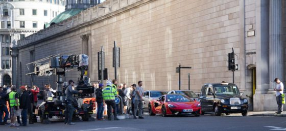 Filming of 'Transformers: The Last Knight' in Central London
