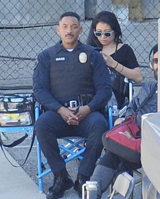 Will Smith spotted on the set of 'Bright' after reports of his father passed away